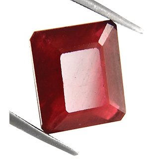 8.40 Ct Earthmined Emerald Cut Ruby Stone