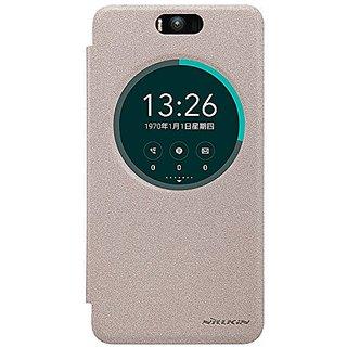 Nillkin Sparkle Circle Window Flip Case Cover For HTC Desire 320