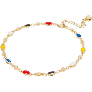 The Luxor Beautiful Multicolor  Alloy Anklet