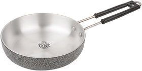 Taluka (15 x 7.5' x 2 Inches approx) Stainless Steel Black Coated Designer Frypan For Cooking Frying Purpose Home Hotel