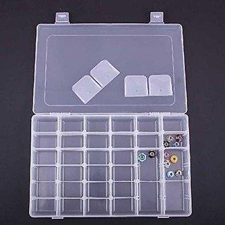 ININDIA Adjustable Multipurpose Plastic Storage Box for Jewellery Medicine Pills Tools - Ultra Large