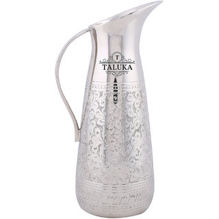 Taluka (10.5 x 4 Inches approx) Stainless Steel Jug Embossed Best Quality Jug Designer Pitcher Hotel Bar ware Restaurant Use CAPACITY :- 1500 ML WEIGHT 1125 GRAMS