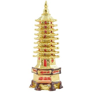 only4you Golden Feng Shui Education Tower For Academic Success For Child's Study Table