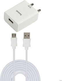 Saransh 2A Wall Charger With 1 Mtr Cable For Samsng Glxy J5