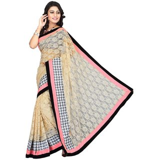 Triveni Multicolor Net Lace Saree With Blouse