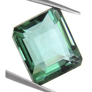 16.85 Ct Certified Emerald Cut Green Amethyst Gemstone