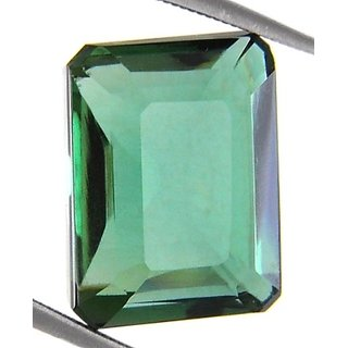 10.85 Cts Natural Emerald Cut Certified Green Amethyst