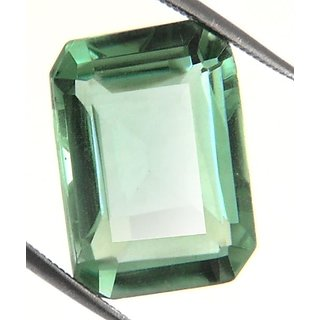 10.39 Ct Certified Emerald Cut Green Amethyst Stone