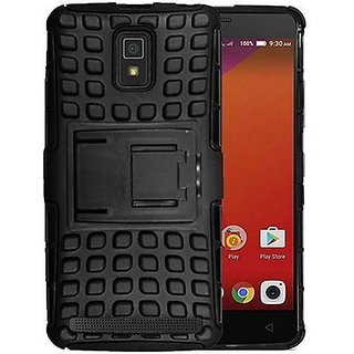 pretty nice e6458 c3b43 SIFAT Defender Back Case Cover Kick Stand for Lenovo A6600 PLUS -Black