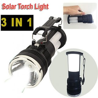 Buy 1 get 1 free 3 in 1 Solar Led Torch rechargeable emergency lamp