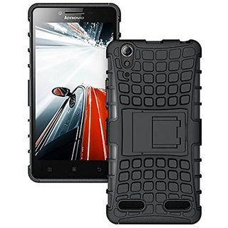 SIFAT Defender Armor Dual Hybrid Shockproof Back Case Lenovo A6000/A6000 Plus -BLACK