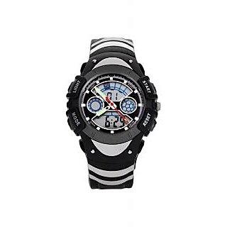 Skmei Imported Trendy Casual Analog & Digital PU Quartz Mens Watch - NWA05S003C0
