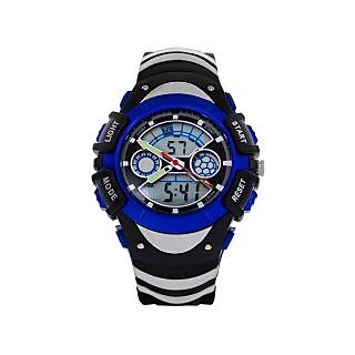 Skmei Imported Trendy Casual Analog & Digital PU Quartz Mens Watch - NWA05S004C0