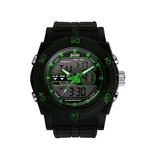 Skmei Imported Trendy Casual Analog & Digital PU Quartz Mens Watch - NWA05S005C0