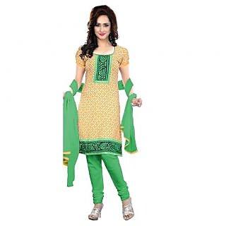 Triveni Admirable Printed Cotton Salwar Kameez (Unstitched)