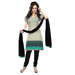 Triveni Astounding Printed Cotton Salwar Kameez (Unstitched)