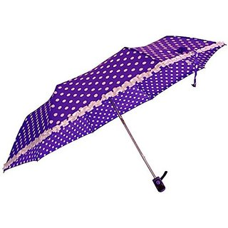 Sun Polka & Frill - Purple Umbrella