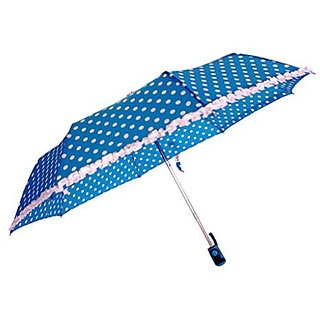 Sun Polka & Frill - Blue Umbrella