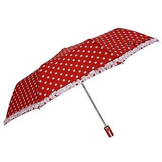 Sun Polka & Frill - Orange Umbrella
