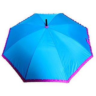 Sun Brand Chick (Blue Color) Long Frill Umbrella