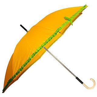 Sun Brand Chick (Yellow Color) Long Frill Umbrella