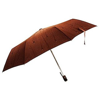 Sun Brand Rain Drop Brown - 3 fold Umbrella