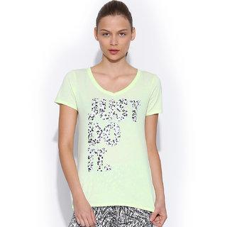 aacc9e42671c64 Buy Nike Women Neon Green Printed T-Shirt Online   ₹1295 from ShopClues