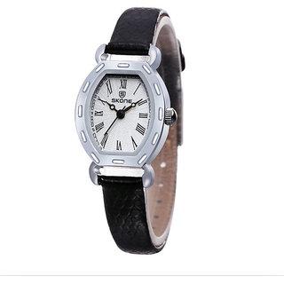 Skone Imported Trendy Casual Analog Leather Quartz Women Watch - NWA04S152C0