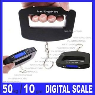 50kg / 10g Pocket Electronic Digital LCD Luggage Travel Weighing Scale Handheld Balance Scale with Hanging