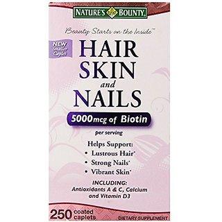 Nature's Bounty Hair Skin And Nails 5000 Mcg Of Biotin