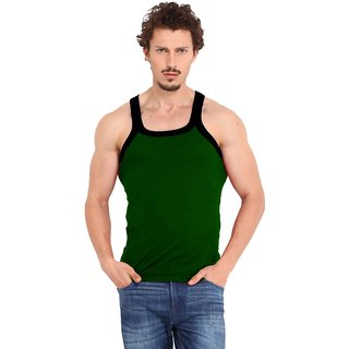 Fashion Trend Mens Green Gym Vest