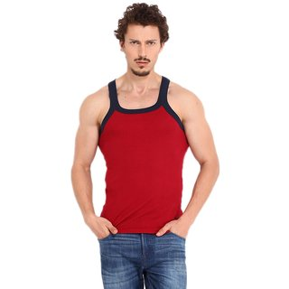 Red Gym Vest for Mens by Fashion Trend