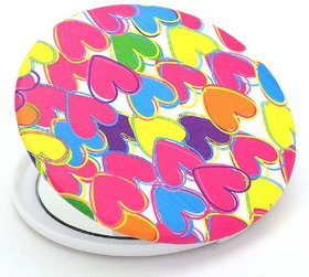 Color Fever Dual Magnifying Compact Mirror (Multi Heart)