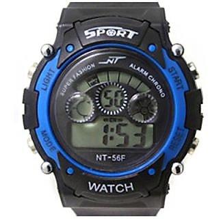S2S Blue in Black Sport Digital Watch - For Boys, Girls