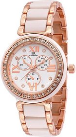 Golden White IIK Collection SUPER HOT Analog Watch - For Women