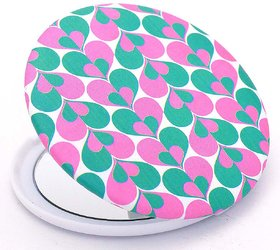 Color Fever Dual Magnifying Compact Mirror (Two Heart)