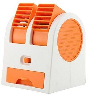 Parishi  W 5V 2.5W Mini Small Cooling Fan Orange Color