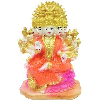 The Panchmukhi MulticolorLaxmi Mata Marble Dust Statue