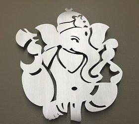 Ganpati g Metal Wall Art - Silver Art