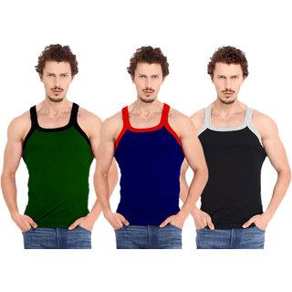 Fashion Trend Mens Gym Vest pack of 3(Green,Navy,Black)