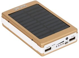 MAXIM Solar  Fast Charging With 2 UBS Port 15000 mah power bank (Gold) With 6 Months Manufacturing Warranty
