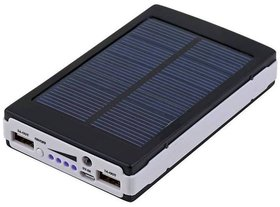LIONIX Solar Fast Charging With 2 UBS Port 15000 mah power bank  Black  With 6 Months Manufacturing Warranty