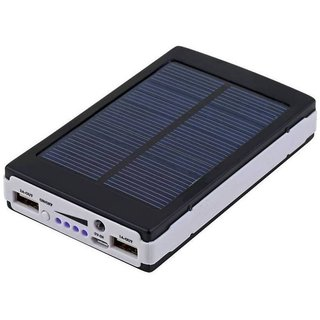LIONIX  Solar  Fast Charging With 2 UBS Port 15000 mah power bank (Black) With 6 Months Manufacturing Warranty