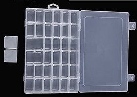 36 Grid Multipurpose Plastic Storage Box With Removable Dividers