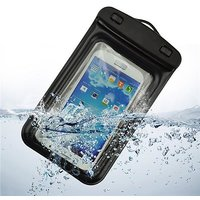 Tuzech Two Buttoned Waterproof Pouch For all Smartphones (Upto 6.6 Inches) Black, Blue