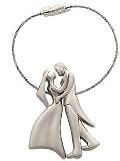 Romantic Couple with Lock Wire Key Chain