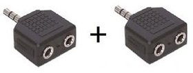 3.5mm Stereo Male to 2 x 3.5 mm Stereo Female Splitter 2 Pieces