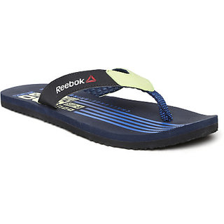 78a0635bd397 Buy Reebok Men Black   Lime Green Graph Printed Flip-Flops Online ...