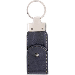 JL Collections Blue Leather Usb Keypouch