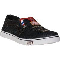 Axonza Men'S Black Canvas Casual Shoe